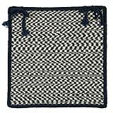 Outdoor Houndstooth Tweed Navy Chair Pad