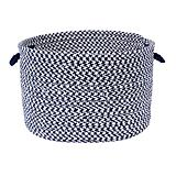 Outdoor Houndstooth Tweed Navy Basket