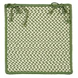 Outdoor Houndstooth Tweed Green Chair Pad