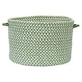 Outdoor Houndstooth Tweed Green Basket