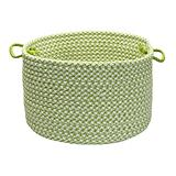 Outdoor Houndstooth Tweed Lime Basket