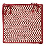 Outdoor Houndstooth Tweed Sangria Chair Pad
