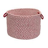 Outdoor Houndstooth Tweed Sangria Bskt
