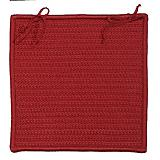 Rope Walk Red Chair Pad