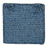 Simple Chenille Petal Blue Chair Pad
