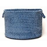 Simple Chenille Petal Blue Basket