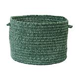 Simple Chenille Myrtle Green Basket