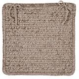 Simple Chenille Café Tostado Chair Pad