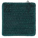 Simple Chenille Dark Green Chair Pad