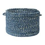 West Bay Blue Tweed Utility Basket