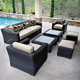Resort 8pc Deep Seatg Set Rattan Expresso
