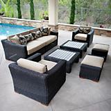 Resort 8pc Deep Seatg Set Rattan Grey