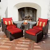 Cantina 5pc Club Chairs and Ottomans Set