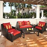 Cantina 6pc Love Seat and Club Chairs Set