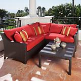Cantina 4pc Corner Sectional Sofa Coffee Table Set
