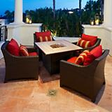 Cantina 5pc Fire Table Seating Set