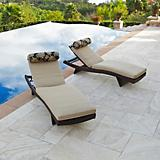 Delano Wave Chaise Lounger Mattress Bolster Set