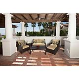 Delano 6pc Love Seat and Club Chairs Set