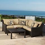 Delano 4pc Corner Sectional Sofa and Coffee Table