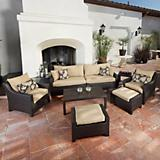Delano 8pc Sofa Club Chair and Ottoman Set