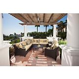 Delano 9pc Corner Sectional Sofa and Club Chairs