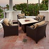 Delano 5pc Fire Table Seating Set