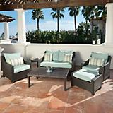 Bliss 6pc Love Seat and Club Chairs Set