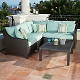 Bliss 4pc Corner Sectional Sofa and Coffee Table