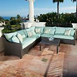 Bliss 6pc Corner Sectional Sofa and Coffee Table