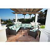 Bliss 9pc Corner Sectional Sofa and Club Chairs