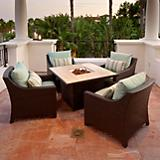 Bliss 5pc Fire Table Seating Set