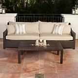 Slate Sofa and Coffee Table Set