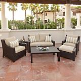 Slate 6pc Love Seat and Club Chairs Set