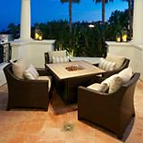 Slate 5pc Fire Table Seating Set