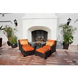 Tikka 5pc Club Chairs and Ottomans Set