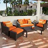 Tikka 6pc Love Seat and Club Chairs Set