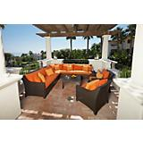 Tikka 9pc Corner Sectional Sofa and Club Chairs