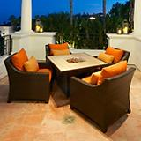 Tikka 5pc Fire Table Seating Set