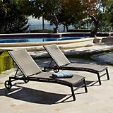ZEN Chaise Lounger with Bolster Pillow 2 Pack