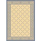 Courtyard Rug CY1502 Natural Blue