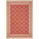 Courtyard Rug CY1502 Red Natural