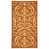 Courtyard Rug CY2663 Terracotta Natural