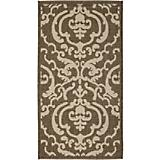 Courtyard Rug CY2663 Chocolate Natural