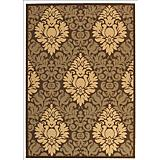 Courtyard Rug CY2714 Chocolate Natural