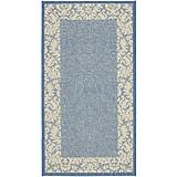 Courtyard Rug CY2727 Blue Natural