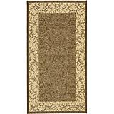 Courtyard Rug CY2727 Chocolate Natural