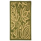 Courtyard Rug CY2961 Olive Natural