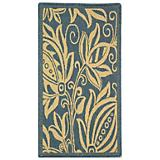 Courtyard Rug CY2961 Blue Natural