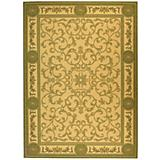 Courtyard Rug CY2914 Olive Natural
