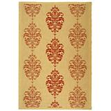 Courtyard Rug CY2720 Natural Red 2ft x 9ft